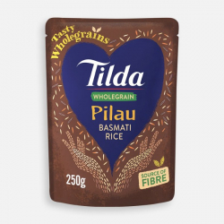 Tilda Microwave Wholegrain Pilau Basmati Rice 250g