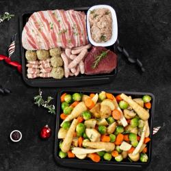Two Pan Turkey & Beef Christmas Hamper