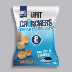 UFIT Crunchers Salt & Vinegar High Protein Popped Chips - 35g