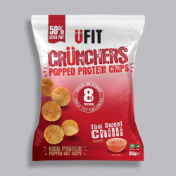UFIT Crunchers Sweet Chilli High Protein Popped Chips - 35g