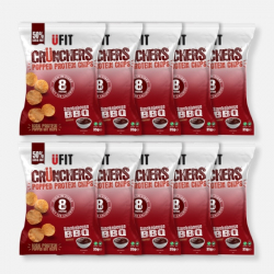 UFIT High Protein Popped Chips -  Smokehouse BBQ - 10 x 35g