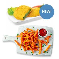 Vegit Spinach Escalopes & Salt & Pepper Sweet Potato Fries