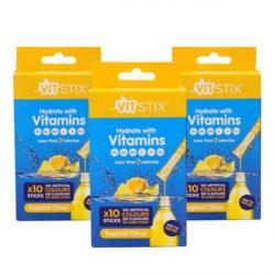 30 x Hydrating Vitamin Sachet Tropical Citrus by Vit Stix
